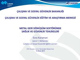 Metal Geri Dönüşüm Sektöründe Sağlık ve Güvenlik Tehlikeleri (1)