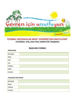 başvuru formu - İhlas Koleji