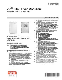 38-00003T—01 - Zio® Lite Duvar Modülleri Modeller