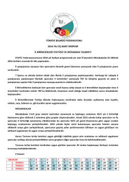 dosyayı indir - Türkiye Bilardo Federasyonu