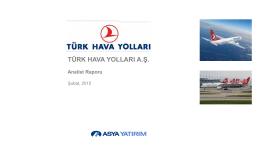 Türk Hava Yolları A.Ş. Değerleme Raporu