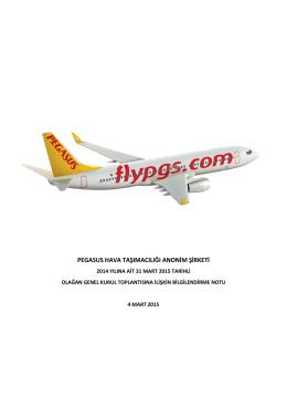 pegasus hava taşımacılığı anonim şirketi pegasus hava taşımacılığı