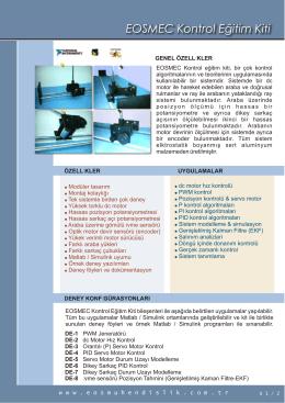 EOSMEC Kontrol Eğitim Kiti