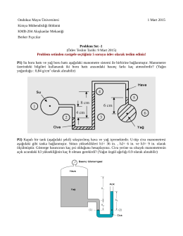 Ödev -2 : Akışkanlara Giriş (pdf, 141 kb, 1.03.2015)