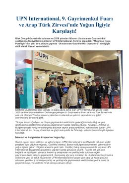 UPN International, 9. Gayrimenkul Fuarı ve Arap