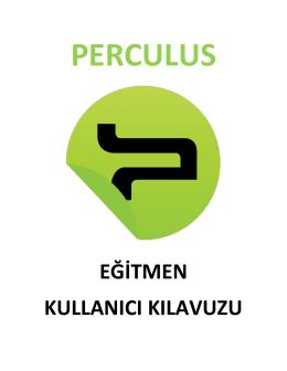 Perculus Eğitmen Kullanım Kılavuzu