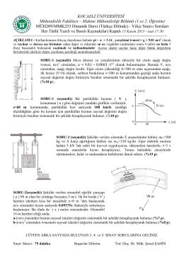 SORU-1) Şekildeki kesit alanı 50 mm x 100 mm olan AB kirişinin