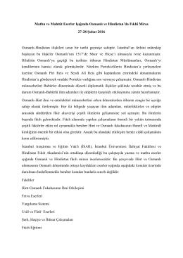 Matbu ve Mahtut Eserler Isiginda Osmanli ve