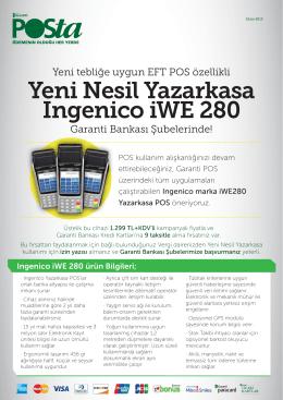 Yeni Nesil Yazarkasa Ingenico iWE 280