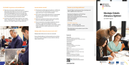 Mesleğe Odaklı Almanca Eğitimi - Bundesamt für Migration und