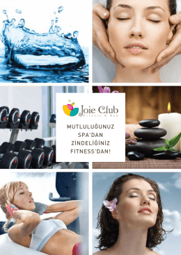Joie Club Fitness & Spa Broşür