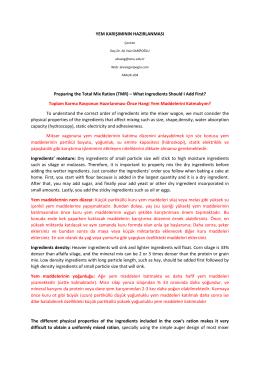 YEM KARIŞIMININ HAZIRLANMASI-22 aralık 2014
