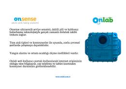 Onsense ultrasonik seviye sensörü, dahili pili ve kablosuz