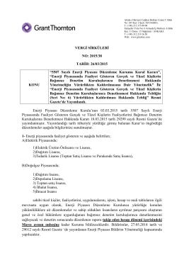 5507 Sayılı Enerji Piyasası Düzenleme Kurumu Kurul Kararı