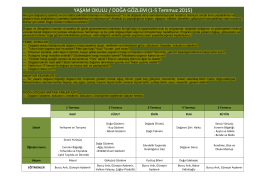 YAŞAM OKULU / DOĞA GÖZLEM (1-‐5 Temmuz 2015)