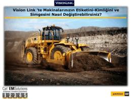 Vision Link `te Makinalarınızın Etiketini