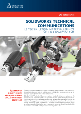 solıdworks technıcal communıcatıons