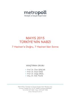 mayıs 2015 türkiye`nin nabzı