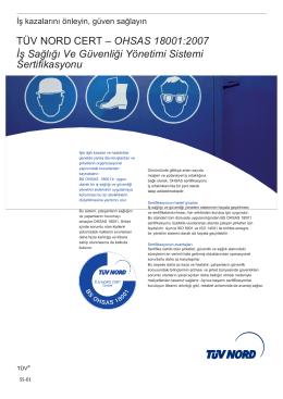 OHSAS 18001:2007 İş Sağlığı Ve Güvenliği Yönetimi