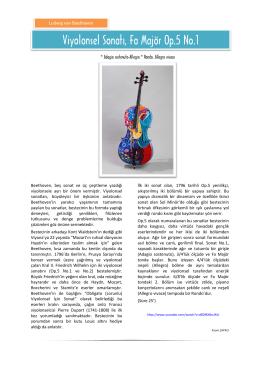 Viyolonsel Sonatı, Fa Majör Op.5 No.1