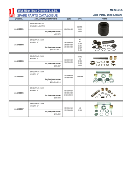 MERCEDES Axle Parts / Dingil AksamÖ