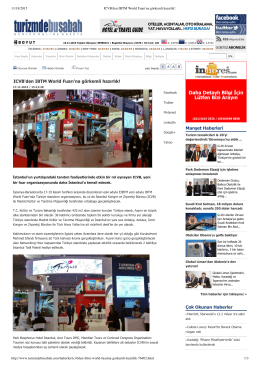 ICVB`den IBTM World Fuarı`na görkemli hazırlık! Manşet Haberleri