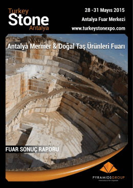 FUAR SONUÇ RAPORU - Turkey Stone Expo