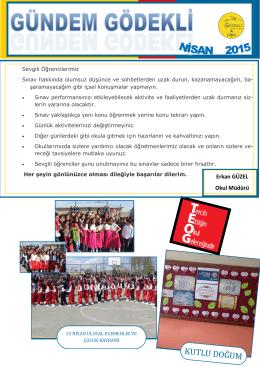 Nisan Ayı Okul Gazetemiz