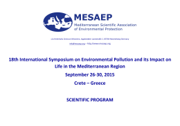 18th International Symposium on Environmental