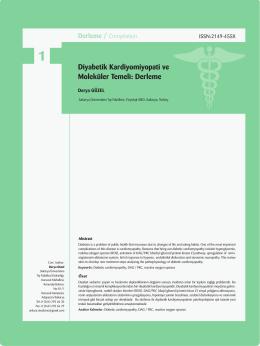 Diyabetik Kardiyomiyopati ve Moleküler Temeli: Derleme.