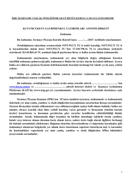 KUYAS İZAHNAME 17082015 - Kamuyu Aydınlatma Platformu
