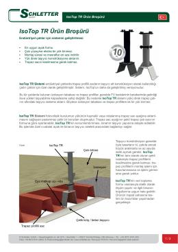 IsoTop TR Ürün Broşürü