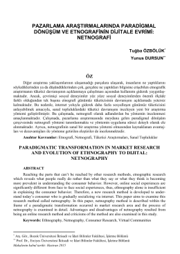 netnografi - İktisadi ve İdari Bilimler Fakültesi