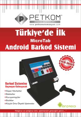 Türkiye`de İlk - petkom barkod sistemleri