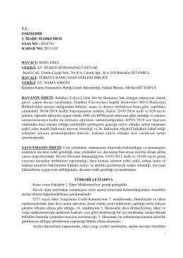 T.C. ESKİŞEHİR 2. İDARE MAHKEMESİ ESAS NO : 2014/741