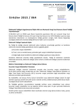 Sirküler 2015 / 064