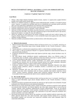 erutam yönerge - Erciyes Üniversitesi