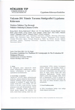Talyum-201 Tümör Tarama Sintigrafisi