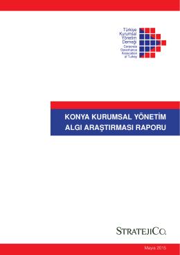 Konya Kurumsal Yönetim Algı Araştırması Raporu - TKYD
