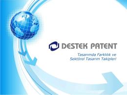 Destek Patent - Tasarımda Farklılık ve Sektörel Tasarım Takipleri