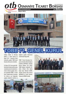 TOBB 71. GENEL KURUL - Osmaniye Ticaret Borsası