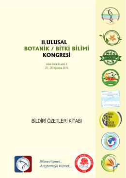 II. Ulusal Botanik Kongresi Bildiri Özetleri Kitabı