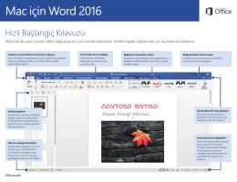 Mac için Word 2016