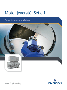 Motor Jeneratör Setleri