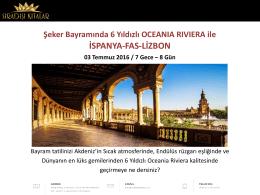 OCEANIA RIVIERA ile ŞEKER BAYRAMINDA