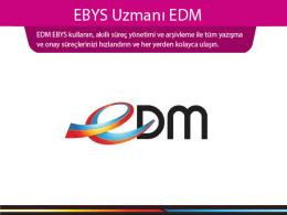EDM EBYS Sunumv3