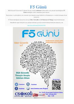 F5 Günü - Kocaeli Üniversitesi Bilgisayar Mühendisliği