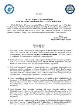 muğla il genel meclisinin 04 kasım 2008 salı günü