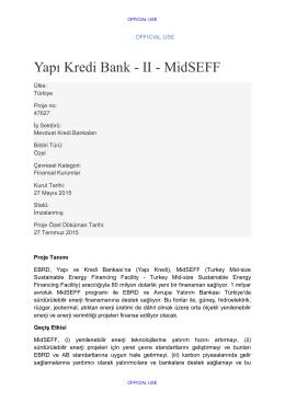 Yapı Kredi Bank - II - MidSEFF