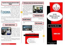 Ekim 2015 Broşürü - TRABZON İL MİLLİ EĞİTİM MÜDÜRLÜĞÜ Ar